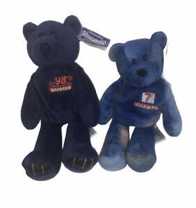 "2 John Elway 7 NFL Beanie Bean Bag Bear Plush 8"" w/tag"