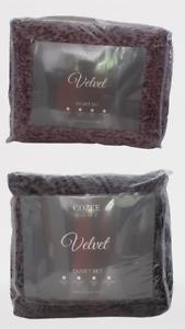 Cozee Home Velvet feel 4 piece Duvet Set - Choose your colour and Size
