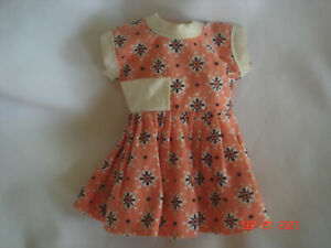 """CUTE!  Vtg. 50's - 60's FACTORY MADE MUFFIE / GINNY 8"""" DOLL DRESS Great Colors!"""