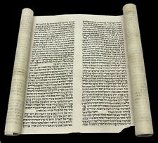 TORAH BIBLE SCROLL VELLUM MANUSCRIPT Genesis SCROLL 150 YRS EUROPE