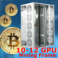 Magnalium Alloy Bitcoin Open Air Mining Rig Frame Case For 10-12 GPU