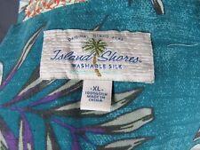 TOMMY BAHAMA ISLAND SHORES HAWAIIAN SHIRT XL TEAL AQUA BLUE GREEN