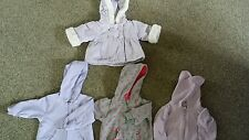 LOT! BABY GIRL INFANT 3-9 MONTHS COAT JACKET FALL WINTER CLOTHES HOODED 3/9
