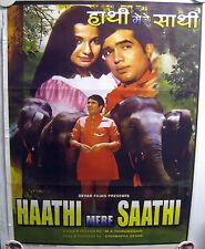 Rajesh Khanna Tanuja 1993 Haathi Mere Saathi Bollywood Movie Film Poster