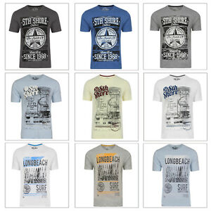 South Shore Mens Speedster T-Shirt Casual Cotton Jersey Crew Neck Graphic Tee