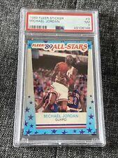 1989-90 Fleer Stickers All-Stars Michael Jordan PSA 7 #3 Chicago Bulls