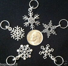 SHIPS from US!!! SNOWFLAKE SET of 5 Charms Zipper Pull Disney FROZEN Elsa Olaf