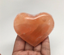 ORANGE SELENITE  PUFF HEART 50mm-60mm