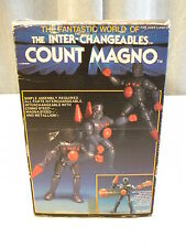 VINTAGE MEGO MICRONAUTS COUNT MAGNO INTER-CHANGEABLES GRAY BARON KARZA MIB!