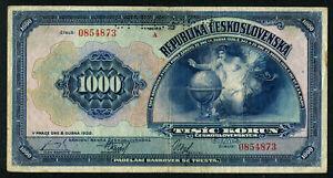 CZECHOSLOVAKIA 1000 KORUN 1932 SPECIMEN, VF