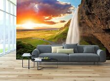 Waterfall, Iceland 3D Wallpaper Mural Wall Paper Background Furniture