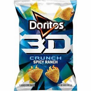 Doritos 3D Crunchy Corn Snacks Spicy Ranch Flavored 6 Oz