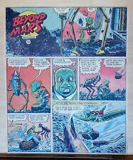 Beyond Mars by Jack Williamson - scarce full tab Sunday comic page July 13, 1952