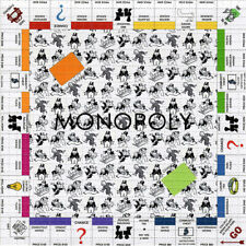 MONOPOLY BLOTTER ART perforated sheet paper psychedelic art