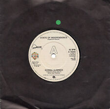 "DONNA SUMMER - STATE OF INDEPENDENCE - 80's SOUL - 7"" VINYL"