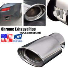 Car Universal Round Chrome Exhaust Tail Muffler Tip Pipe Fit 1.5inch - 2.2 inch