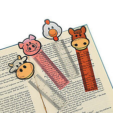 12 Farm Ruler Bookmarks|Farm Animal Party|Party Favours|Party Bag Fillers