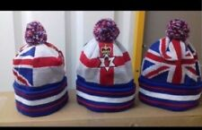 NEW  UNION JACK FLAG RED HAND OF ULSTER Bobble HAT LOYALIST RANGERS LOYAL SCOTS
