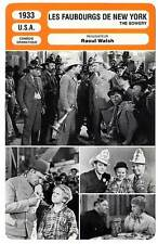 FICHE CINEMA : LES FAUBOURGS DE NEW YORK Beery,Raft,Cooper,Walsh 1933 The Bowery