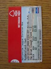 13/12/2000 Ticket: Nottingham Forest v Huddersfield Town . Any faults with thi