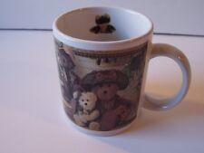 Boyds Bears Friends Coffee Mug Cup Teddy Canoe Frog Fishing Alligator Picnic