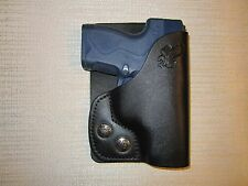 BERETTA NANO, LC9, PM9, CM9 & more Leather, LEFT HAND, wallet and pocket holster