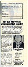 Storo Tevan--gegen Kahlkopf--Wie man Haarverlust beseitigt-Werbung von 1966-