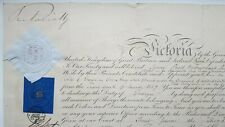 Queen Victoria Signed Autograph Royal Military Commission Appointment 1857