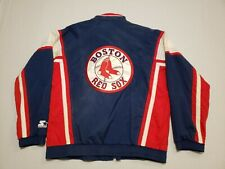 Vintage Boston Red Sox Starter Jacket Mens XL Lightweight Windbreaker Zip Up