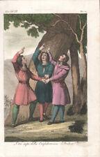 SWISS FEDERATION - MODERN & ANTIQUE COSTUME * RARE COLOUR PLATE 1828 - Verico