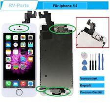 Display für iPhone 5S LCD mit RETINA Glas Scheibe KOMPLETT VORMONTIERT WEISS