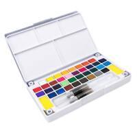 peintures à l'aquarelle ensemble 24 couleurs avec pinceau en cas peinture