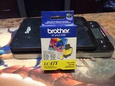 NEW GENUINE Brother LC41 Y Yellow Ink Cartridge (Expired 2012 -2013)