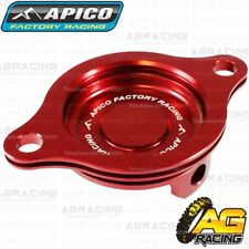 Apico Red Oil Filter Cover Cap For Honda CRF 450R 2002-2008 CRF 450X 2005-2018
