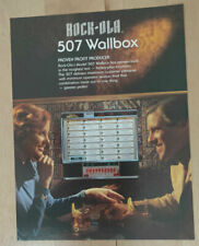 Rock-ola Rockola 507 Wallbox Jukebox Sales Brochure / Flyer / Pamphlet