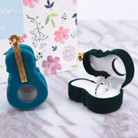 Fashion Violin Design Velvet Ring Box Earring Necklace Jewelry Storage Case EO