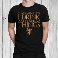 Drink and Know Things Game Of Thrones T-Shirt