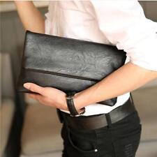 Black Envelope Bag Men Fashion Clutch Handbag Soft Man Business Document Bags Q