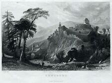 Zenoberg. Monte San Zeno. Tirolo. Bolzano. Allom. Stahlstich.+ Passepartout.1833