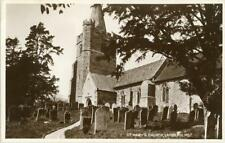 REAL PHOTO POSTCARD ST. MARY'S CHURCH, LAMBERHURST, (NEAR TUNBRIDGE WELLS), KENT