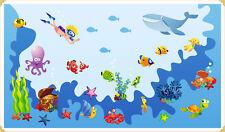 Riesiger Wandsticker Wandaufkleber Unterwasserwelt Fische Meereswelt Wandtattoo