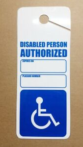 One handicap  Permit Holder Heavy Duty Removable Sign Impedido Card