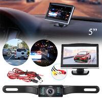 """5"""" TFT LCD Car Rear View Backup Monitor&Wireless Parking Night Vision Camera Kit"""