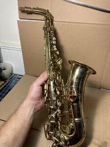 C.G. Conn Alto Sax Saxophone Patent 1914 Elkhart In W/ Original Case 1924