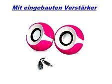 650W Pink USB 2.0 Mini Multimedia Boxen Speaker Lautsprecher Laptop PC Notebook