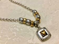 Brighton True Heart Necklace gold & silver beautiful chain with beads new