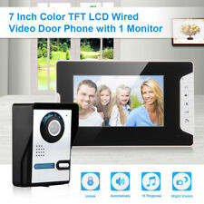 "7"" Monitor Video Door Phone Doorbell Intercom Home Entry Security System Camera"