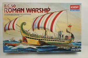 Academy 14207 B.C.50 Roman Warship 1/72nd Scale Model Kit