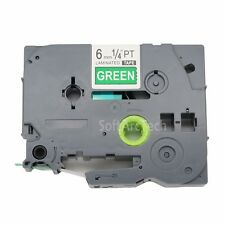 1pk White on Green Label Tape Compatible for Brother P-Touch TZ 715 TZe715 6mm