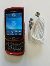 Rare Red H20 At&t Cricket Wireless EasyGo Black Blackberry 9800 Torch Phone